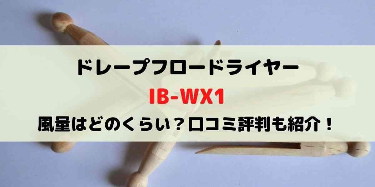 ドレープフロードライヤーIB-WX1の風量はどのくらい?口コミ評判も紹介!